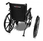 "Graham-Field 90763550 Wheel and Black Handrim 24"" x 1"" with Hubcap for Advantage Wheelchair"