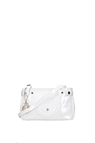 Armani jeans-Bolso bandolera para mujer 0529c55 29 cm, color blanco