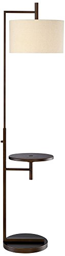 14 Light Transitional Floor Lamp (Mesa Tray Table Floor Lamp with USB Port)