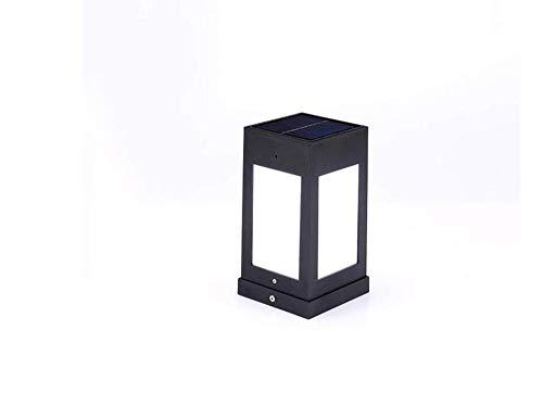 Solar Powered LED Super Post Light Outdoor Super Bright Pillar Lantern Décor Garden Yard Deck Street Top Wall Fence Universal Home Waterproof Column Head Lamp IP54 (Color : Warm Light)