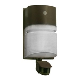 Hubbell Outdoor NRG204BMS Decorative Compact Wallpack with 42W CFL Lamp, 120V