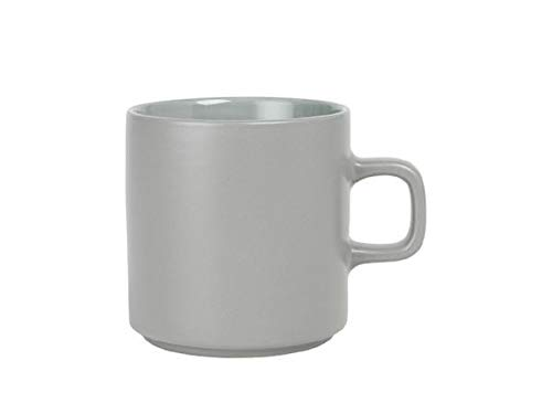 blomus MIO Ceramic Coffee Cup 9 oz Mirage Gray Set of 4