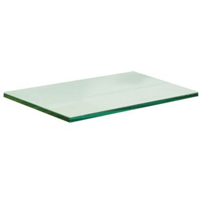 "Review 10"" x 24"" Tempered Glass Shelf 3/16"" Thick By GordonGlass by GordonGlass"