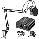 Neewer® NW-700 Professional Condenser Microphone & NW-35 Suspension Boom Scissor Arm Stand