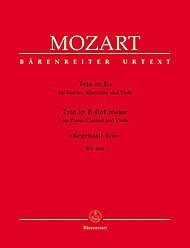 - BARENREITER MOZART W.A. - TRIO IN E-FLAT MAJEUR KEGELSTATT-TRIO KV 498 - PIANO, CLARINET, VIOLA Classical sheets Chamber music by Wolfgang Amadeus Mozart