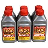 Motul (6 Pack) 100949 8068HL RBF 600 Factory Line Dot-4 100 Percent Synthetic Racing Brake Fluid - 500 ml