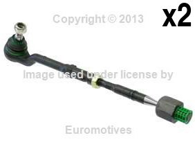 BMW e53 x5 (00-03) Tie Rod Assembly L+R (x2) OEM Lemfoerder