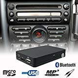Stereo Bluetooth Handsfree A2DP USB SD AUX MP3 WMA CD Changer Adapter Interface Car Kit Mini Cooper R50 R52 R53 Boost Radio