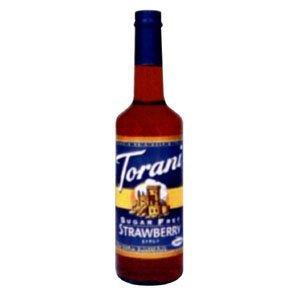 - Torani Sugar Free Strawberry Syrup
