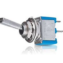 SPST Flatted Metal Lever Toggle Switch