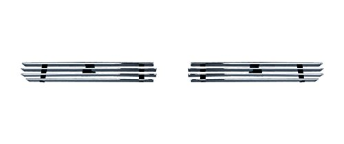 MaxMate Fits 03-06 Chevy Silverado 1500/2500HD/3500HD 07 Silverado Classic Replacement Air Dam 2PC Horizontal Billet Polished Aluminum Grille Grill Insert