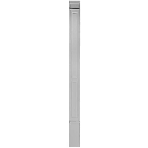 Panel Raised Column (Ekena Millwork PIL07X90X02DP 7-Inch W x 87-Inch H x 2 3/8-Inch P Double Raised Panel Trimmable by 12-Inch)