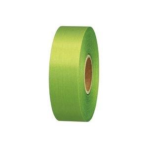 生活日用品 (業務用100セット) カラーリボン黄緑 24mm×25m B824J-YG B074JS9L9M
