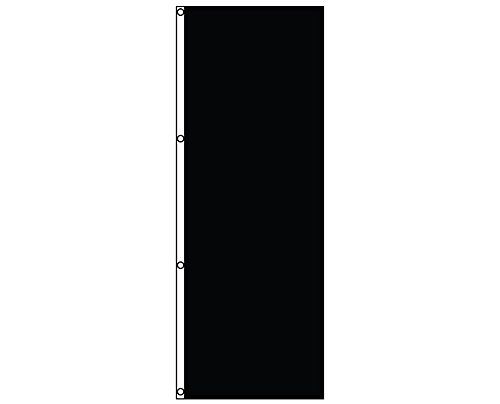 Black Color 3x8ft Nylon Banner - Banner Nylon 8' Giant