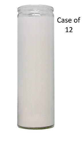 7 DAY Candle Vigil Candle Prayer Candle Novena Vigil Candles Devotional Candles (12 Pack) (Pick Your Color) Holiday Candle Paraffin Wax (WHITE 7 DAY CANDLE 12 PACK VIGIL - Church Candle