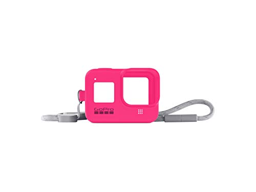 GoPro Sleeve + Lanyard (HERO8 Black) Electric Pink - Official GoPro Accessory