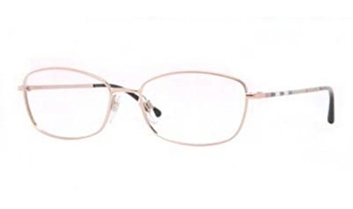 Burberry Eyeglasses BE1256 1188 Pink Gold Demo Lens 51 16 - Reading Burberry Glasses