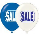 17 Inch Blue and White SALE Balloons (Premium Outdoor Helium Quality) By Tuftex 50 Ct -