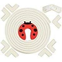 Paraspigoli FEDERCOMP Paraspigoli Bambini,Paraspigoli Angolari In Gomma,Paraspigoli Muro,6,2 mt Con 8 Proteggi Angoli Adesivi-Omaggio 1 Fermaporta