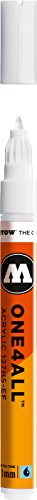 Molotow ONE4ALL Acrylic Paint Marker, 1mm Extra Fine, Signal White, 1 Each (127.102)