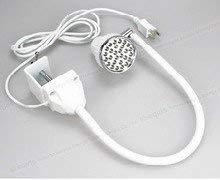 (LED WHITE Task Sewing Uber Light Gooseneck Lamp Bendable Steel 22