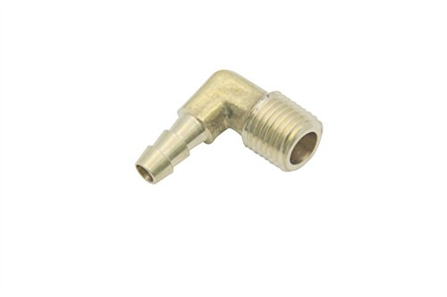 LTWFITTING 90 Degree Elbow Brass Barb Fitting 1/4 ID Hose x 1/4