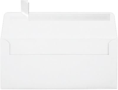 #10 Square Flap Envelopes w/Peel & Press (4 1/8'' x 9 1/2''), White, Inkjet (500 Qty.) | Business | For Checks, Invoices, Letters & Mailings | Printable | 80lb Text Paper | 4860-32IJ-500 by LUXPaper
