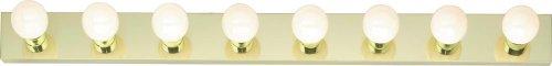 Satco SF77/191 Eight Light Vanity Strip, Polished -