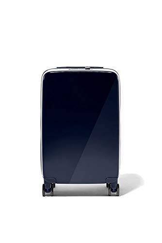 RADEN A22 USB SMART LUGGAGE HARDSIDE Spinner CARRY ON 22'' INCH SUITCASE Matte & GLOSSY Built-in Bluetooth (navy blue matte)