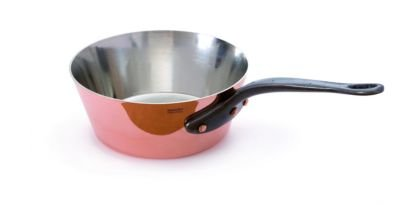 Mauviel Copper Splayed Saute Pan - Cast iron Handle