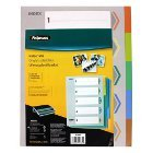 Fellowes Binding Index Tabs, 5 Tabs, Assorted (5261501)