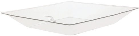 Buffet Enhancements Small Acrylic Ice Display Tray with Drain Only, 24 x 24 inch - 1 each.