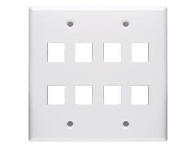 Keystone wall plate 8 port