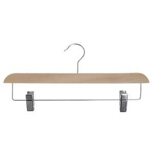 14'' Contemporary Skirt/Pant Wooden Hanger, Natural by Retail Resource