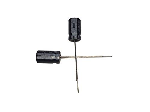 10uF 100V 6.3X11 +/-20% -40-+105℃ 100 PCS Aluminum Electrolytic Capacitors