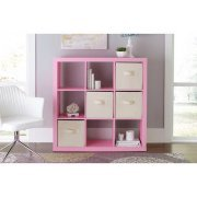 Better Homes and Gardens 9-cube Organizer Storage Bookcase Bookshelf Pink by Better Homes & Gardens