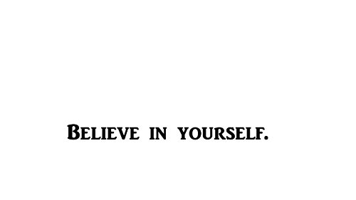 Believe In Yourself. Decal for office, school, home, gym, work place, home gym etc... | Motivational, Inspirational, Positive, Affirmations, Self help etc... | 8.25 In | KCD201