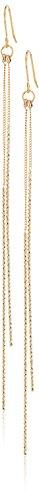 Chain Hook Earrings (Kenneth Jay Lane Gold Chain and Double Bar Drop Fishhook Drop Earring)