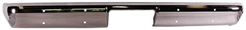 81-87 GM Fleetside Truck 81-91 Blazer Jimmy Suburban Chrome Rear Bumper w/o Impact Strip Holes