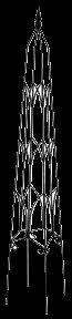 Gardman Usa Gothic Obelisk [Set of 6]