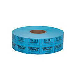 Office Depot Ticket Roll, Double Coupon, Assorted, Roll Of 2,000, No Color Choice, 215000247