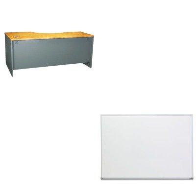 KITBSHWC72423UNV43624 - Value Kit - Bush 72amp;quot; W RH Corner Module Series C Natural Cherry (BSHWC72423) and Universal Dry Erase Board (Corner Module Series)