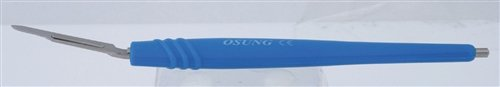 Osung SH2C Autoclavable Silicone Scalpel Handle, Curved