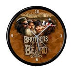 Duck Dynasty Brothers Of The Beard 12-Inch Black Rim Clock
