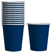 Paper Party Cups, 9-oz., 12-ct. Packs by DT Navy Blue