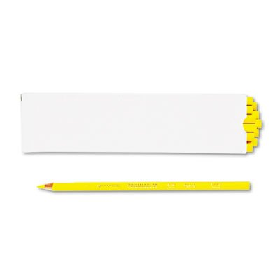 Premier Colored Pencil, Canary Yellow Lead/Barrel, Dozen, Sold as 1 Dozen - Yellow Colored Pencil