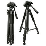 Weifeng Professional Travel Camera Lightweight Aluminum Alloy Tripod Camcorder Stand for DSLR SLR Canon Nikon Sony Olympus DV Video ,WF-520