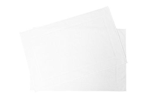 ZOLLNER® 2er Set Badematten / Badvorleger / Badteppich 50x80 cm weiß, in weiteren Farben erhältlich, in Premium-Qualität, Serie