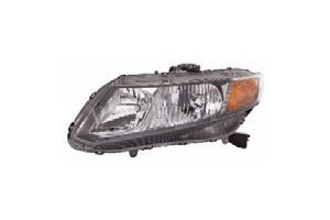 Honda Civic Sedan / Coupe 12 Headlight Assembly RH USA Passenger Side (Passenger Side Headlight Assembly Coupe)