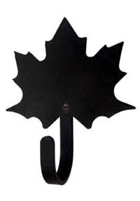 (3.75 Inch Maple Leaf Wall Hook Small)